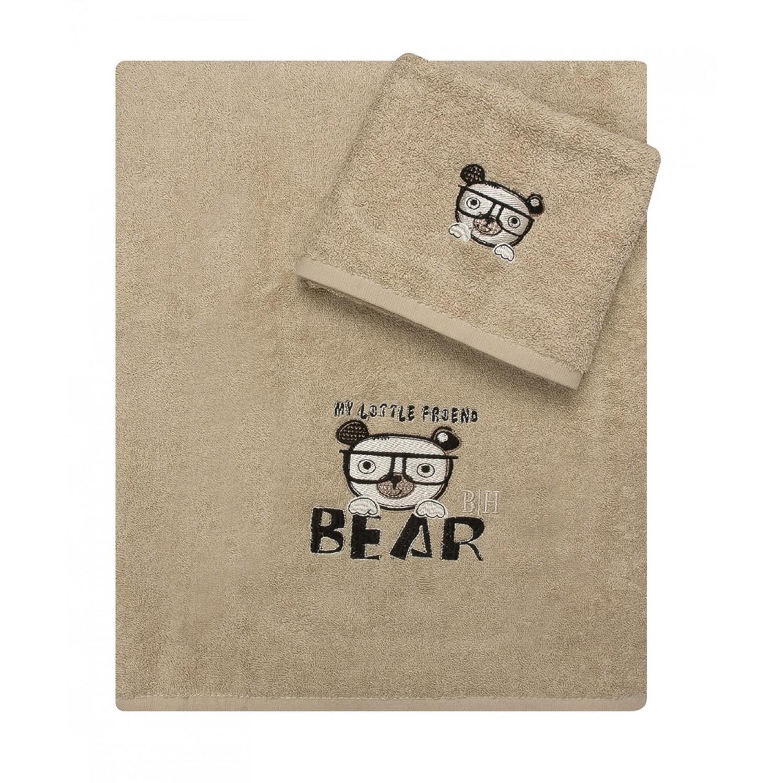 Πετσέτες Σετ 2 τεμ Βαμβάκι 100%   5076 Μπεζ Beauty Home