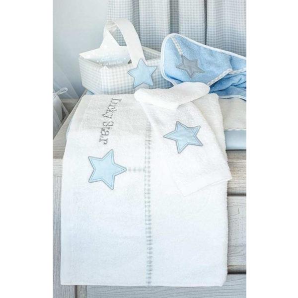 Baby Oliver Σετ πετσέτες 2τμχ Lucky star blue des.309
