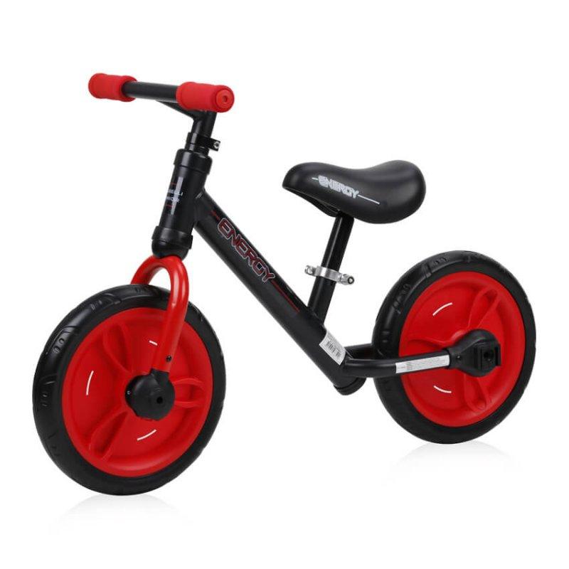 Παιδικό Ποδήλατο Ισορροπίας Energy 2 in 1 Black Red Lorelli