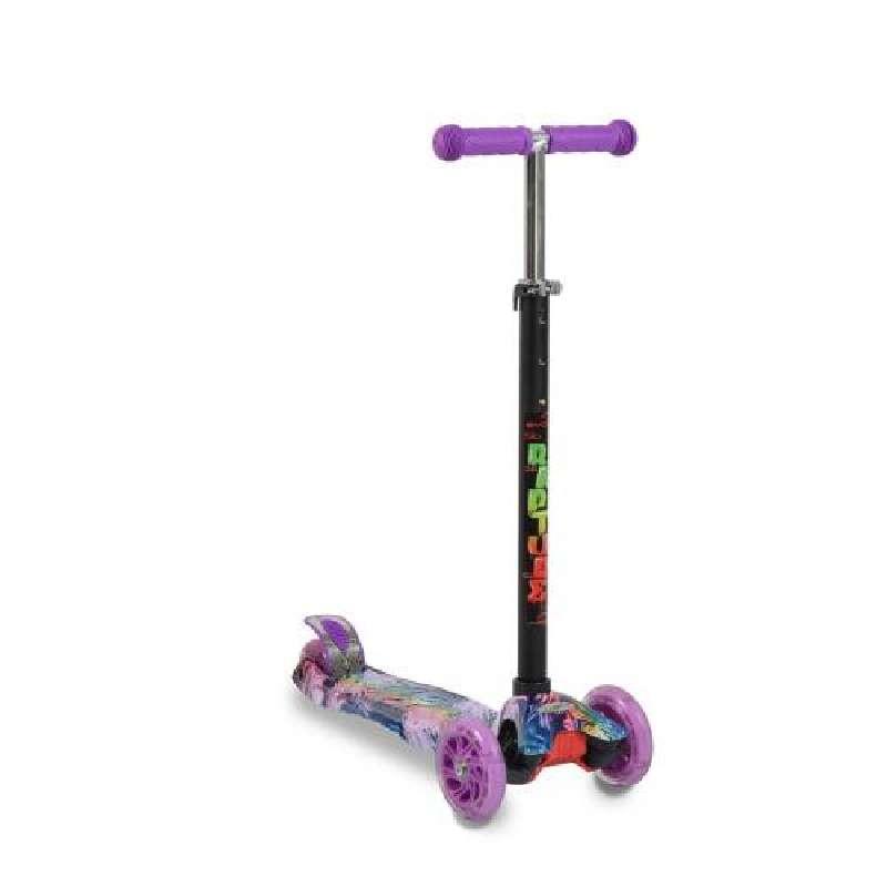 Πατίνι Scooter Rapture με φωτιζόμενες ρόδες, Purple Byox