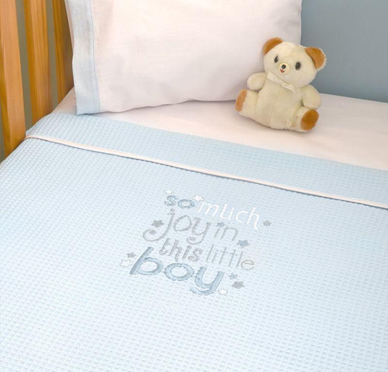 Κουβέρτα πικέ αγκαλιάς My Little Blue Joy Design 303 Baby Oliver