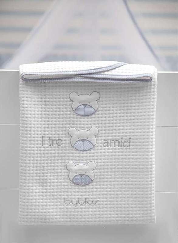 Βρεφική Κουβέρτα Αγκαλιάς Πικέ Design 80 Amici Blue Byblos