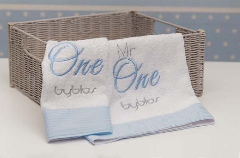 Σετ πετσετών 2τεμ Design 82 Mr One Blue Byblos