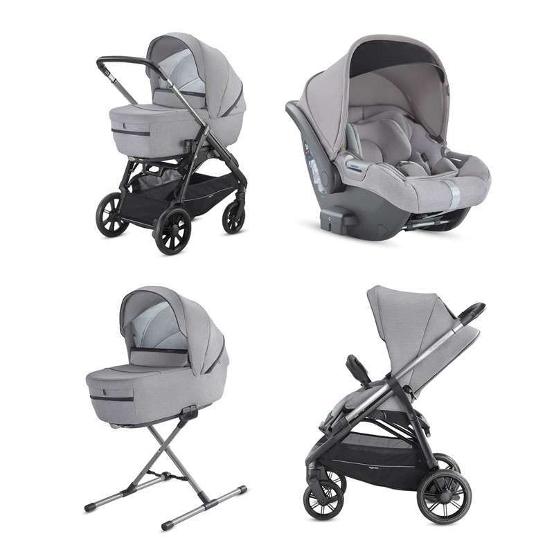 System Aptica Quattro Silk Grey Full Kit with car seat Cab Inglesina
