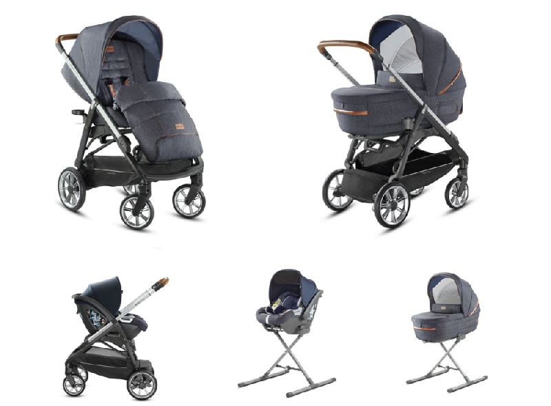 System Aptica Quattro Indigo Denim Full Kit with car seat Cab Δώρο η βάση για το κάθισμα αυτοκινήτου Inglesina