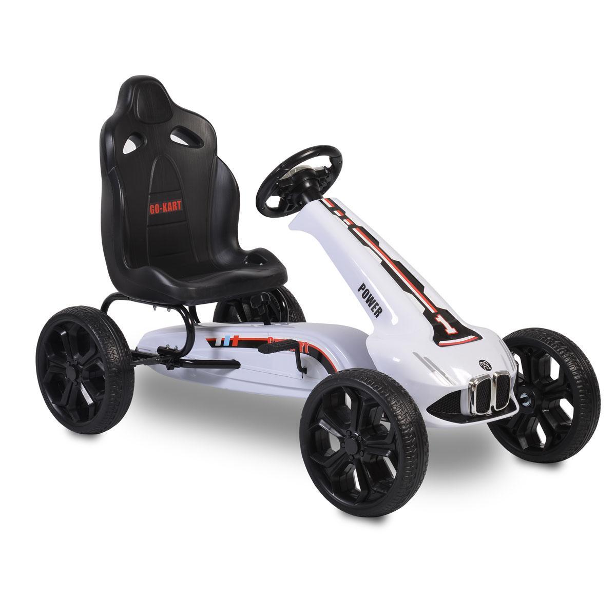 Cangaroo Αυτοκινητάκι με πετάλια Go Cart Monte Carlo white