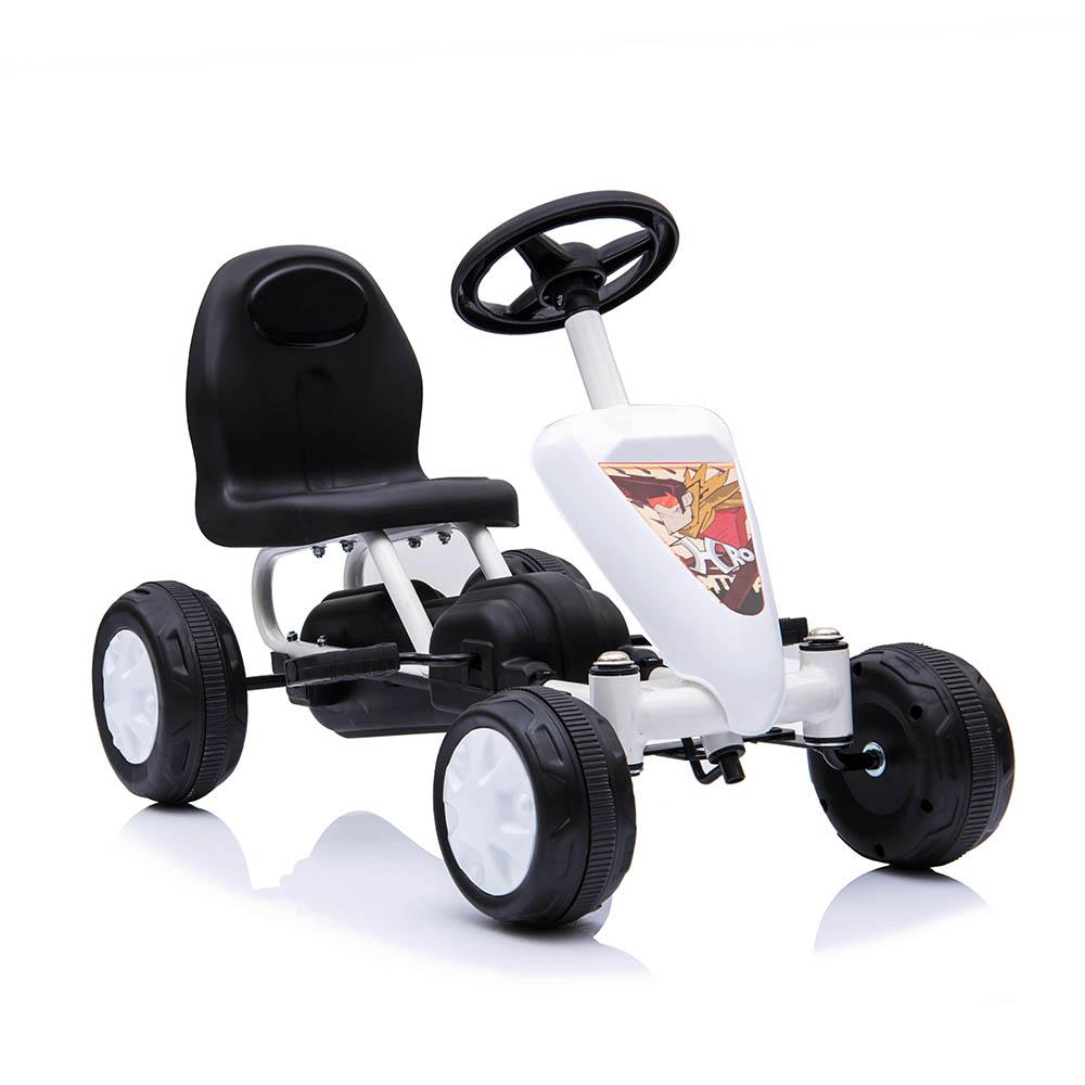 Παιδικό αυτοκινητάκι με πετάλια Go Cart Colorado White Moni
