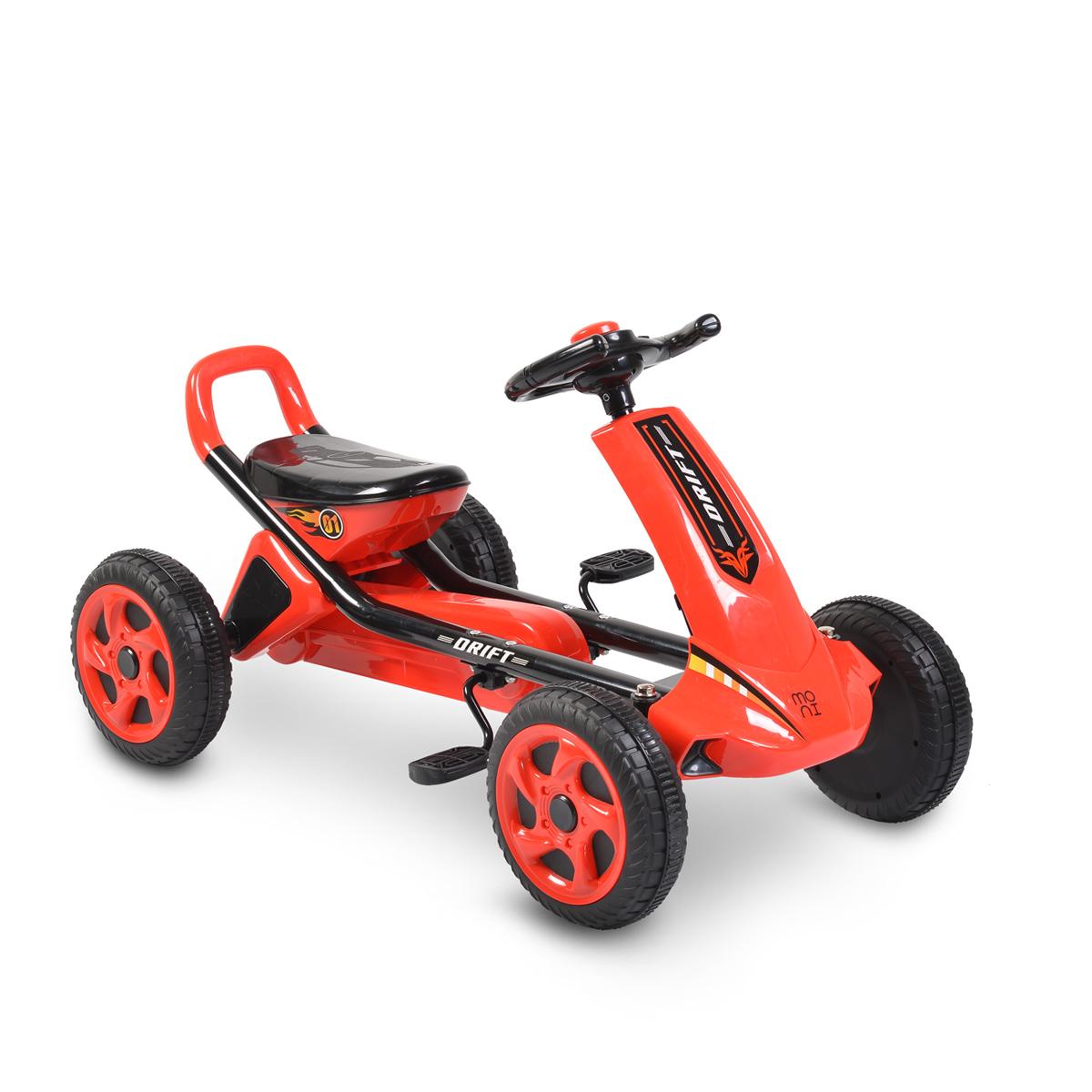 Παιδικό αυτοκινητάκι με πετάλια Go Cart Drift Red plastic wheels Moni