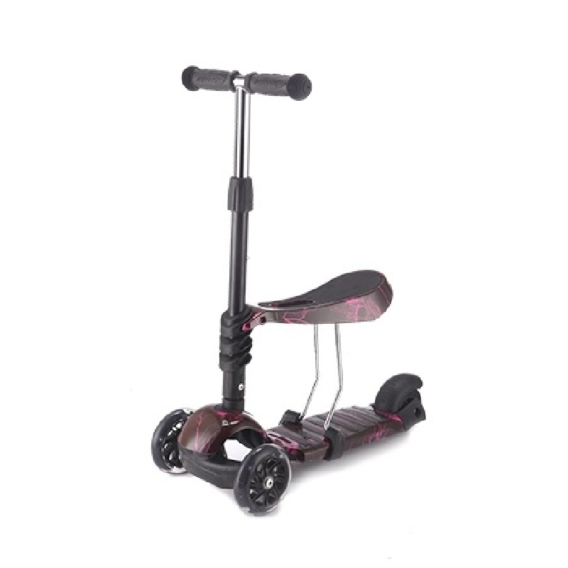 Scooter 3 in 1 Ride and Skate Thunder Black