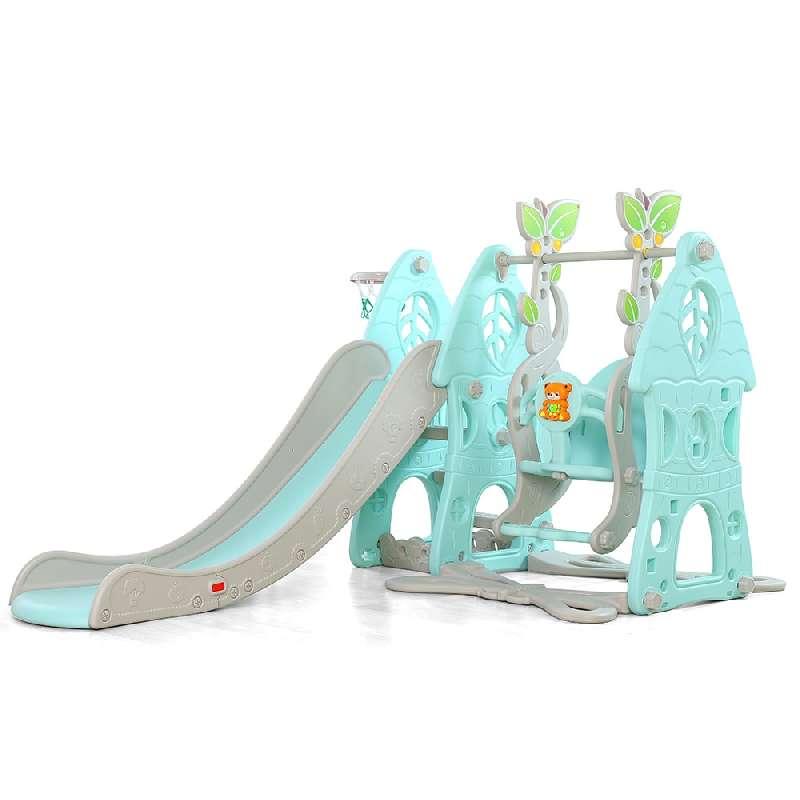 Moni Τσουλήθρα Slide με κούνια και μπάσκετ Wonder 18009