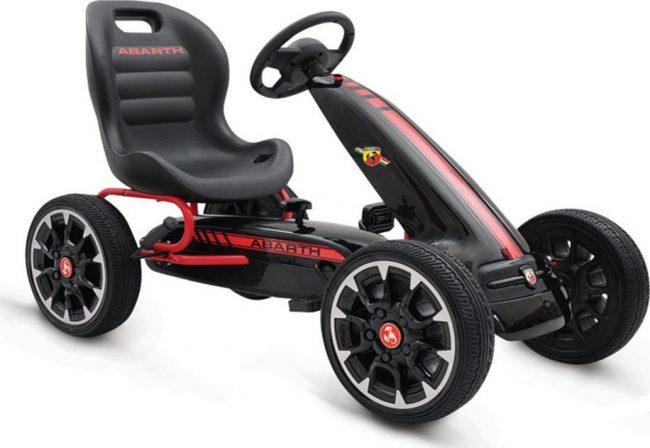 Παιδικό αυτοκινητάκι Go-cart Abarth 500 Assetto Black Cangaroo
