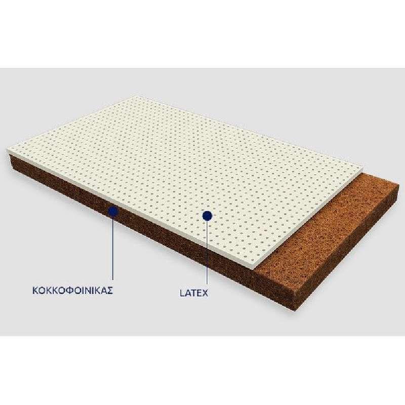 Βρεφικό Στρώμα Ερατώ Cocolatex με κάλυμμα Jacquard Cotton ΕΩΣ 65x140cm Greco Strom