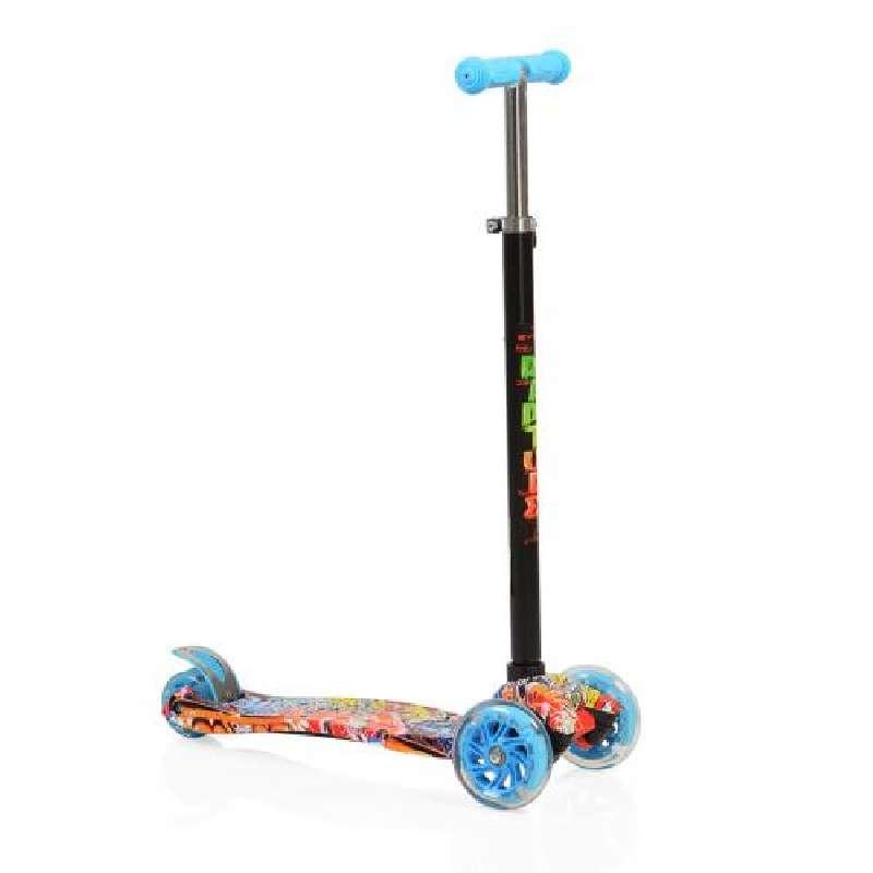 Πατίνι  Scooter Rapture με φωτιζόμενες ρόδες, Blue Byox
