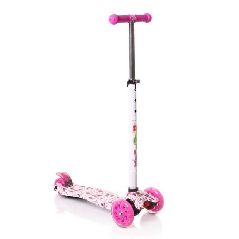 Πατίνι  Scooter Rapture με φωτιζόμενες ρόδες, White-Pink Byox