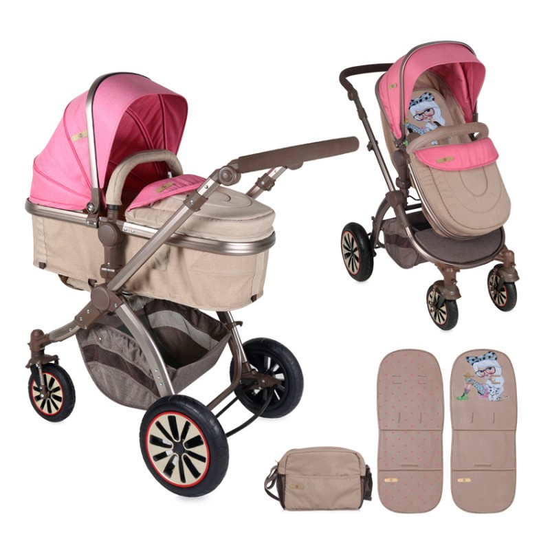 Πολυκαρότσι Aurora 3 in 1 Air WheelsRose Beige Fashion Girl Lorelli