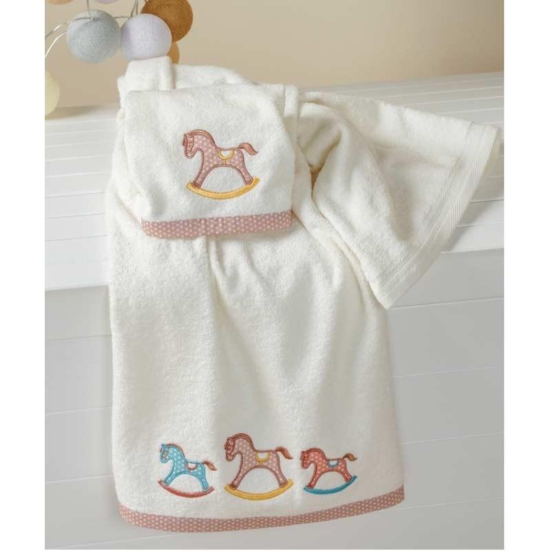 Σετ πετσέτες βρεφικές 2 τμχ Carousel Kentia